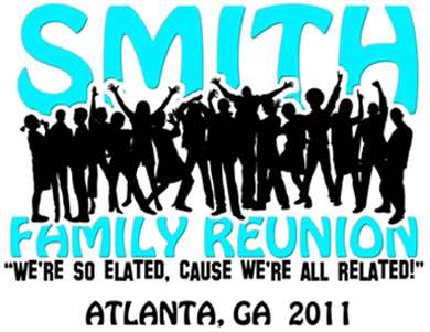 family reunion logo color design and print